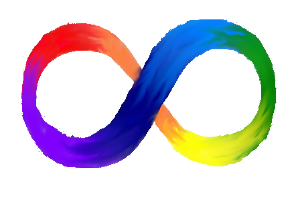 image of a rainbow infinity symbol representing neurodiversity