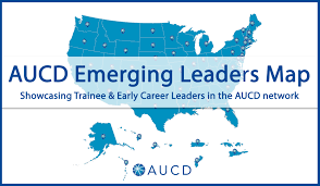 logo for the AUCD Emerging Leaders Map: Showcasing Trainee and Early Career Leaders in the AUCD Network